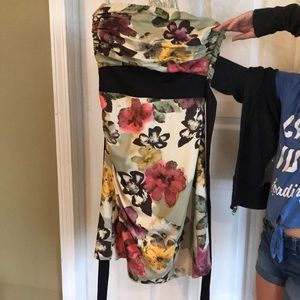 Strapless size 0 floral dress